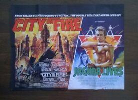 city on fire ' jaguar lives ' original cinema poster
