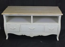French Shabby Chic wood TV stand unit
