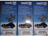 BRAND NEW Machtek Universal snow shoes LARGE< MEDIUM & SMALL Sizes