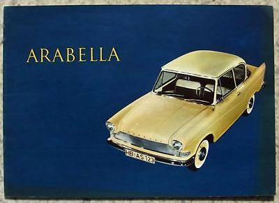 BORGWARD ARABELLA Car Sales Brochure 1961 # B135/6-61.GERMAN TEXT