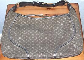 Genuine Louis Vuitton Mini Lin Manon Platine Handbag. REDUCED