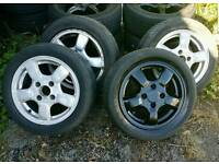 """Honda Civic MB6 15"""" alloy wheels with tyres 4x114.3"""