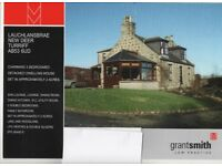Detached 3 bedroomed house set in approx 2 acres incl woodland and lake, close to New Deer and Maud