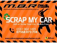 scrap cars wanted cash on collection best prices paid Scrap my car Salford