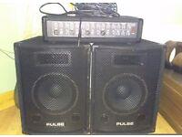 Dj amp & speakers karaoke bingo p.a