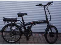 ELECTRIC FOLDING BIKE IMPRESSIVE 15MPH, STYLISH BLACK GLOSS AS NEW ONLY £400, CAN DELIVER