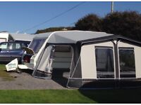 2 Berth Caravan with full awning, 1995 Abbey Chorus, very good condition.