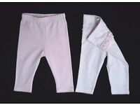 Pink leggings new 3-6 months