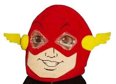 Maskimals Mens Adult Big Kids HEAD The FLASH Costume Mask Halloween Purim NEW](Big Head Costumes Halloween)