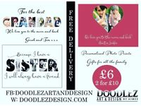 Personalised prints perfect Christmas gifts