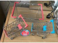 Desk tidy trolleys and a basket
