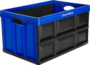 NEW CleverMade CleverCrates 62 Liter Collapsible Storage Bin/Container: Solid Wall Utility