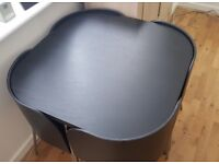 Ikea Fusion Compact Dining Table & Chairs - Black - £50
