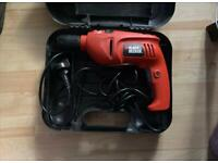 Black & Decker Corded Hammer Drill with Tool Box OFFERS ACCEPTED!