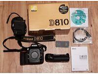 Nikon D810 with grip & box