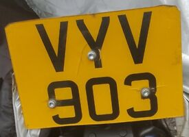 Personalised Number Plate VYV 903 on Retention