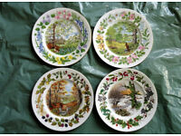 Beautiful Set Of 4 Coalport collectable Wall Plates - Woodland Seasons