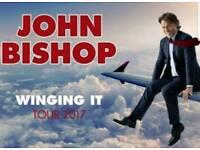 John Bishop Winging it tour tickets *excellent floor seats*