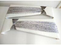 2 Brand new glitter/ crushed velvet window pelmets 3.5 foot