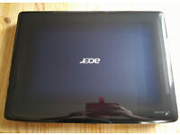 "LAPTOP, 17"", WIN7, BLU-RAY, SURROUND SOUND,WEBCAM, ACER 7530G,VGC, HARDLY USED,C/W DISCS & PACKAGING"