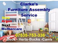 Clarkes Flat Pack Furniture Assembly Service| FREE estimate Milton Keynes|Bedford|St Albans