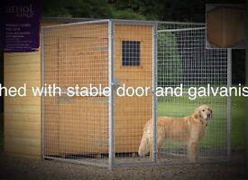 Dog house with dog run , brand new .