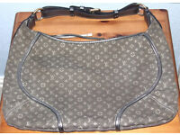 Genuine Louis Vuitton Mini Lin Manon mm Platine Handbag