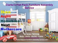 Clarke's Flat Pack Furniture Assembly Service for Cambridgeshire| 7 Day a Week Service