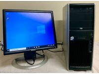 HP Workstation XW4400 Computer Desktop PC & 19 LCD Widescreen