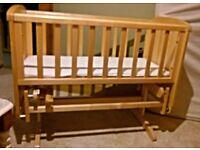 Ex Mothercare Deluxe Gliding Crib.