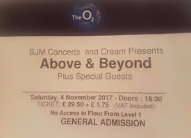 Above and Beyond at the O2 2 Tickets level 1 general admission