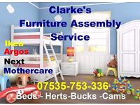 Clarke's Flat Pack Assembly Service FREE Estimate on Cost| IKEA -NEXT - Made -Com