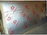 Insulation board's 100mm 1200 by 2400 twin foil