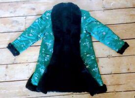 Satin Festival Coat, size 10