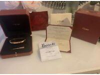 Cartier Love Bangle Bracelet Rose Gold (Size 18) 2019 Receipt Box Certificate