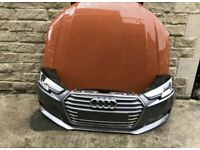 Front end part Bonnet, bumper, LED headlight, grill slam panel Audi A4 B9 2017 - 2020 RHD UK version