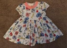 Girls mamas and papas dress 6-9
