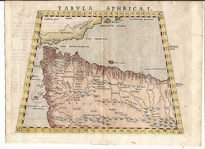 Antique map, Tabula Aphricae I.