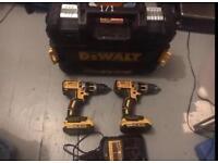 MUST SELL TODAY!!! 2x Dewalt DCD795 18V Combi Drill + 2x 2.0ah Batteries + 1x Dewalt DCB105 Charger