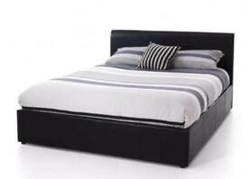 NEW* DOUBLE LEATHER BED + FREE 9 INCH MATTRESS + FREE QUILT £99- SAME DAY DROP OFF*