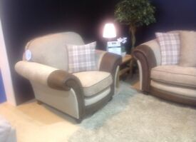 New 3 seater and 2 armchairs sofa suite less than 1/2 price Cookstown BARGAIN