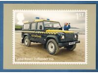 ROYAL MAIL POSTCARD ** LAND ROVER DEFENDER 110 ** MINT CONDITION