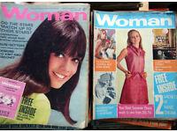 Woman magazine 1966-1970 - 200 approximately