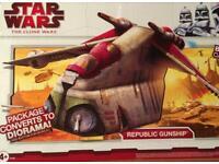 Rare Star Wars Republic Gunship Brand NEW factory sealed box toys R us exclusive VHTF clone figures