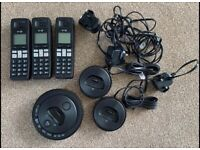 BT Digital Cordless Phones x3 and Answering Machine