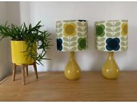 Matching lamps in Orla Kiely Summer Flower Multi Fabric. Brand new shades £25 EACH