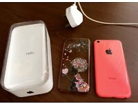 IPHONE 5C Mobile Phone with back cover case and charger Offers!!!