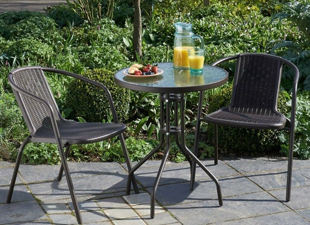 2 Seater Metal Garden Patio Bistro Set For Sale In Old Street