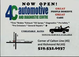 4C AUTOMOTIVE  BEST RATES IN TOWN  Now 4 Wheel Alignments. 60.00