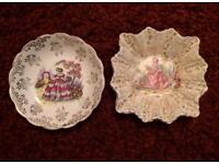 Pair of miniature trinket dishes
